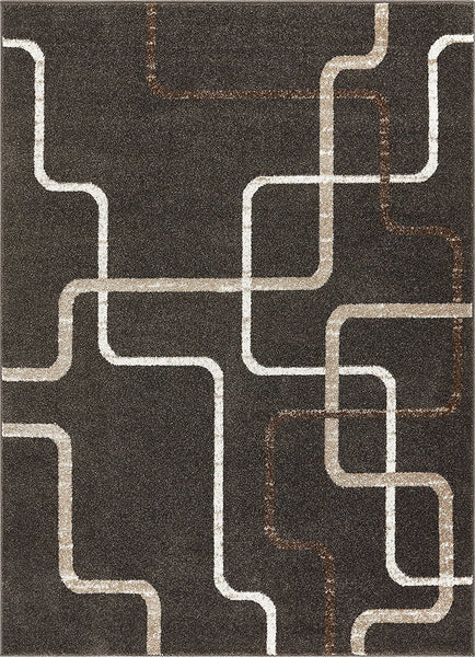 2962 Gray Geometric Abstract Contemporary Area Rugs