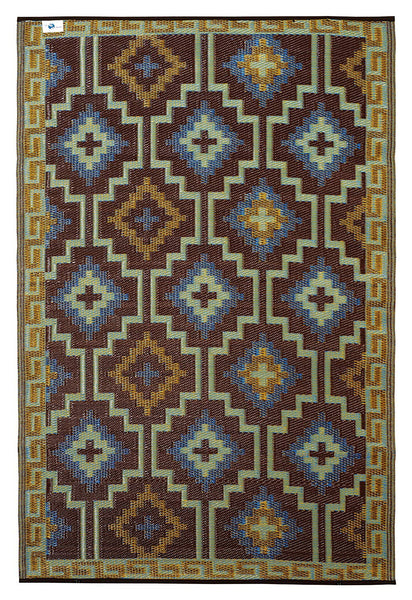 7102 Royal Blue 100% Recycled Outdoor Area Rugs