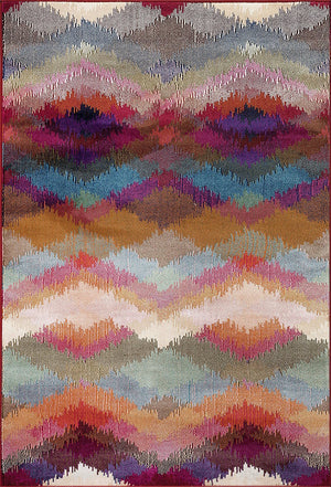 7020 Multi-Color Colorful Contemporary Area Rugs