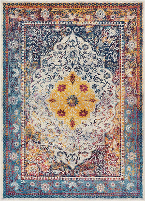2921 Blue Multi Color Oriental Area Rugs