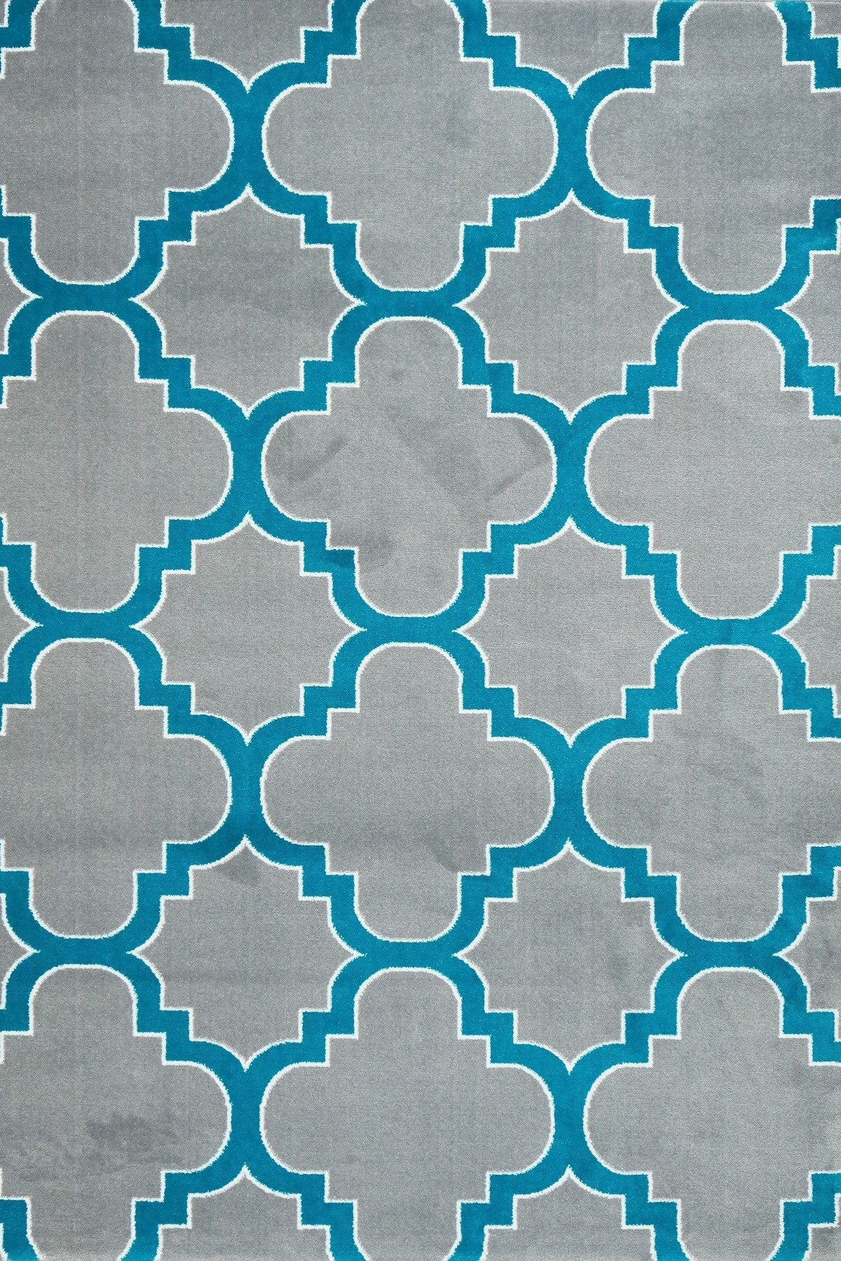 Gray Turquoise Moroccan Trellis Area Rugs ...