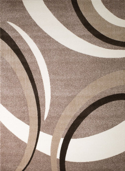 2072 Beige Brown Abstract Contemporary Area Rugs