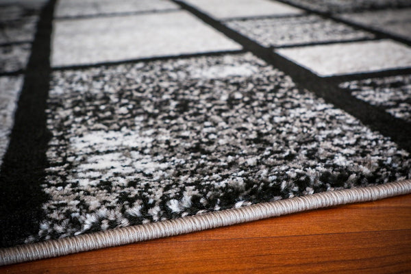 Gray Black Geometric Modern Contemporary Rugs