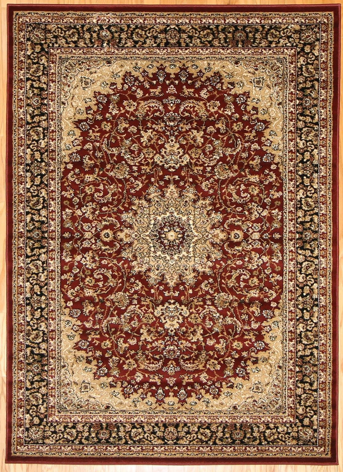 Persian rugs red gold isfahan oriental area rugs bargain area rugs