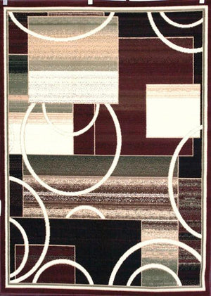 Burgundy Abstract Contemporary Affordable Area Rugs