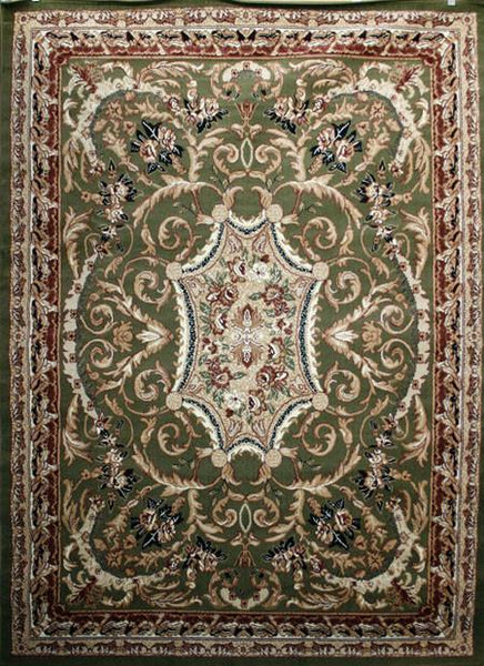 Persian Rugs Green Medallion Isfahan Oriental Rugs | Bargain Area Rugs
