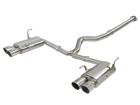 "aFe POWER Takeda 3"" to 2-1/4"" 304 Stainless Steel Cat-Back Exhaust 15-18 Subaru WRX STI"