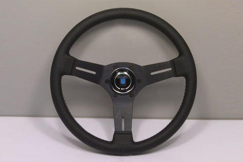 Nardi Competition 330mm Black Leather Grey Stitch Steering Wheel