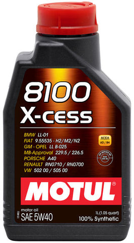 Motul 8100 X-CESS Synthetic Motor Oil
