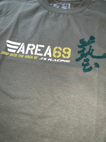 J'S Racing Army Green T Shirt