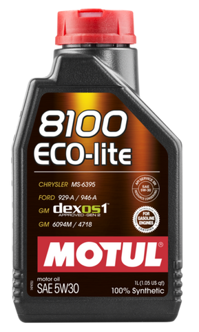 Motul 8100 Synthetic Motor Oil  Eco Lite
