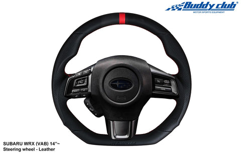 Buddy Club Steering Wheel: WRX 15-19 Leather or Carbon