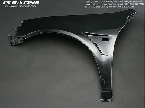 J'S Racing DC5 Type-R Front Wide Fender kit FRP