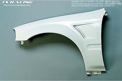 J'S Racing Civic Front Wide Fender kit FRP
