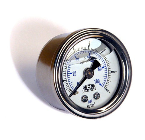 Blox Racing Liquid - Filled Fuel Pressure Gauge Kit
