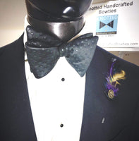 Black Texture Dots - Knotted Handcrafted Bowties