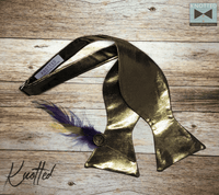 Gold Shimmer - Knotted Handcrafted Bowties