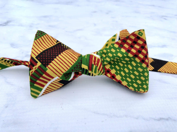 Kente Cloth - Knotted Handcrafted Bowties