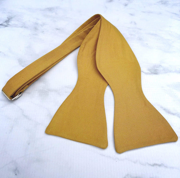 Old Gold - Knotted Handcrafted Bowties