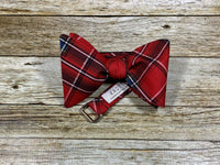 Holiday Tartan Plaid - Knotted Handcrafted Bowties