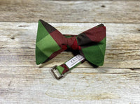 Red and Green Buffalo Check - Knotted Handcrafted Bowties