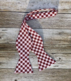 Red and White Checkers - Knotted Handcrafted Bowties