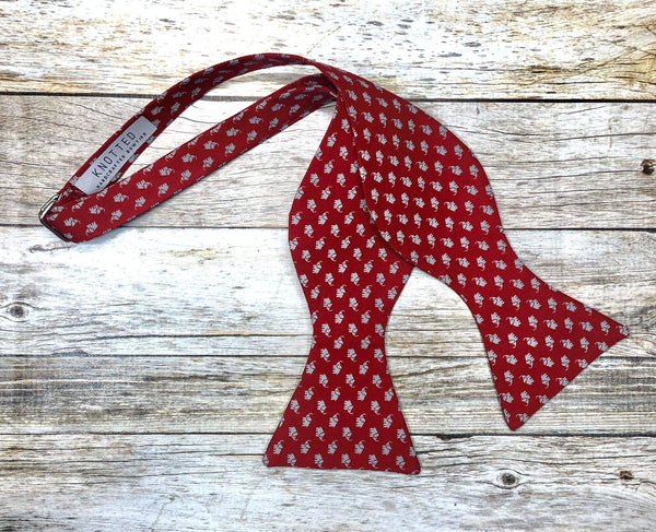 Small Grey Elephants - Knotted Handcrafted Bowties