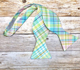 Spring Madras Plaid - Knotted Handcrafted Bowties