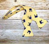 Yellow Crab - Knotted Handcrafted Bowties