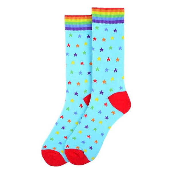 Rainbow Stars Socks - Knotted Handcrafted Bowties