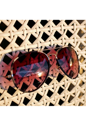 Denim Aviator Sunglasses