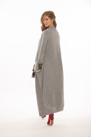 Mya Full Length Cardi in Grey