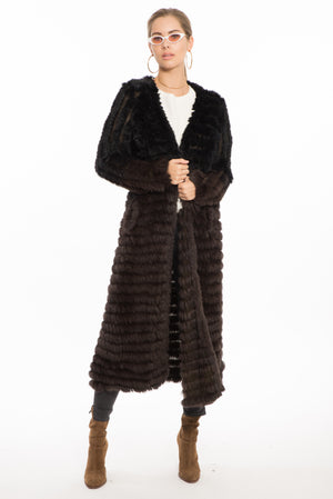 Sabrina Long Fur Cardigan