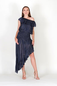 Phocea Lurex Assymetrical Dress