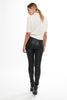 215 TNXS Skinny Tiger Leather Pant - Black