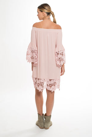 405 JGS JOLIE FLOWER DRESS BLUSH
