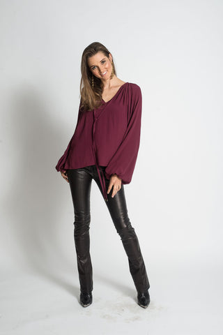 664 MH Michael Top - Burgundy