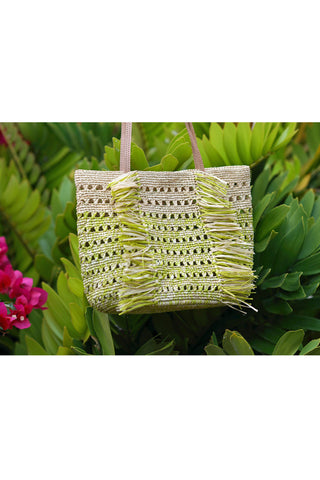 90861HV-Hula Mini Straw Bag- Natural & Pistachio