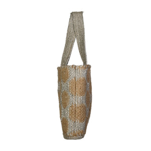 90986 FV Fera Straw Bag with Silver Lurex Details