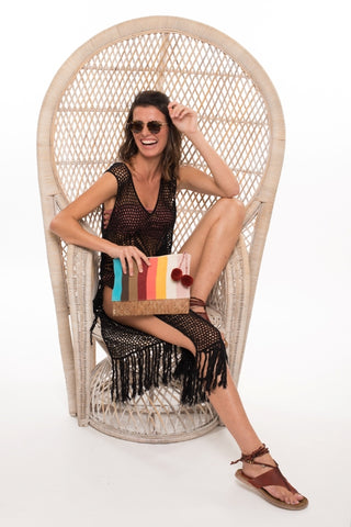 973 LN- Louisette Crochet Cover Up- Black
