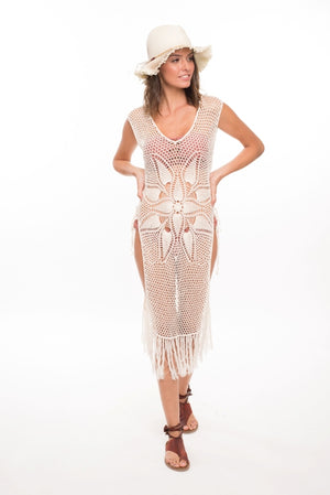 973 NV-Louisette Crochet Cover Up- Natural