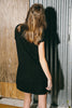 216 FNS Flame Suede Dress Round front Pockets - Black