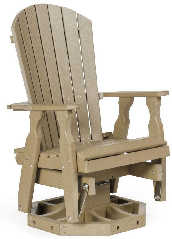 Leisure Lawns Poly Amish Made Adirondack Swivel Glider