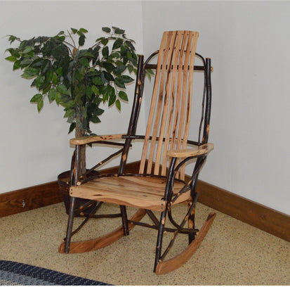 Enjoyable A L Furniture Co Amish Bentwood 7 Slat Hickory Rocking Chair Ships Free In 5 7 Business Days Gamerscity Chair Design For Home Gamerscityorg