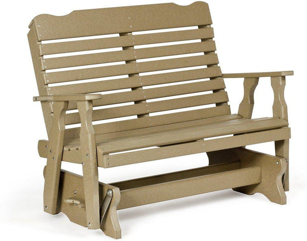 Leisure Lawns Poly Amish Made Curve Back Glider Chair Mode