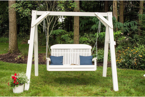 Luxcraft 4 Highback Recycled Plastic Porch Swing