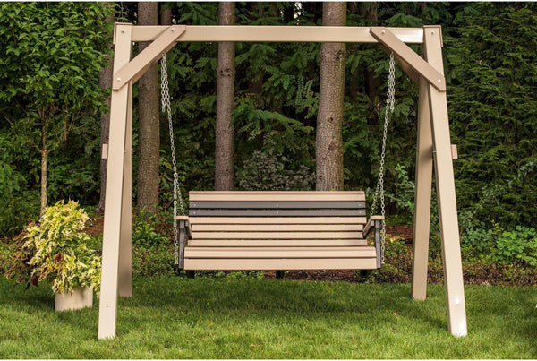 Luxcraft Rollback Recycled Plastic 4 Porch Swing