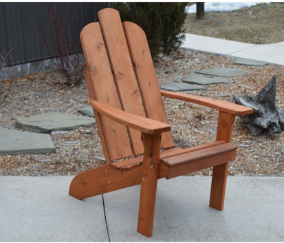 A U0026 L FURNITURE CO. Western Red Cedar Mountain Adirondack Chair   Ships  FREE In 5 7 Business Days   Rocking Furniture