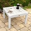 highwood usa recycled plastic Adirondack / Deep Seating Side Table - White