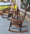 A & L Furniture Co. Amish Bentwood 7-Slat Hickory Rocking Chair  - LEAD TIME TO SHIP 3 WEEKS